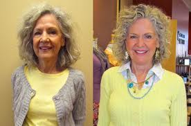 mature woman before and after image makeup